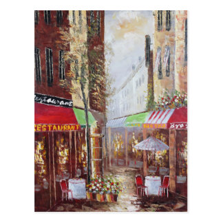 Postal de las calles de Francia