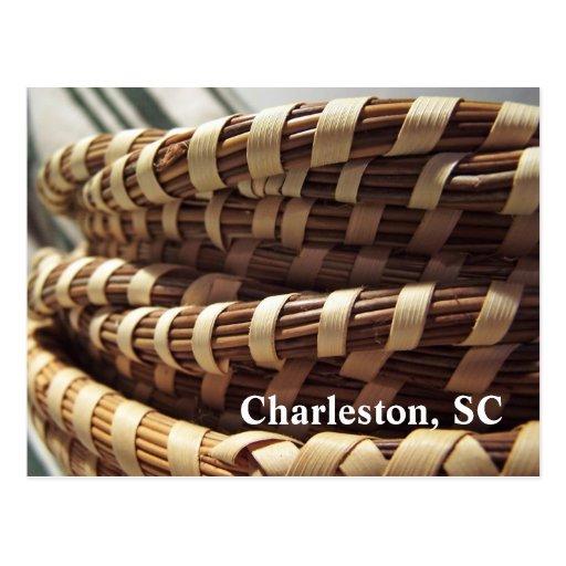 Postal de las cestas de Charleston Sweetgrass