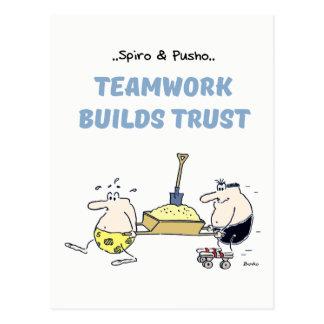 Postal de las citas del trabajo en equipo de Spiro
