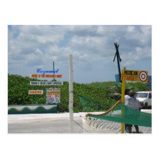 Postal de las compras de Cozumel