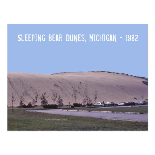 Postal de las dunas de arena de Michigan de las