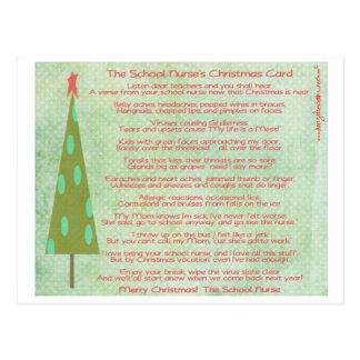 Postal de las Felices Navidad de la enfermera de