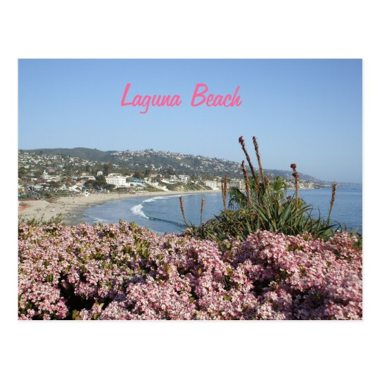 Postal de las flores del Laguna Beach