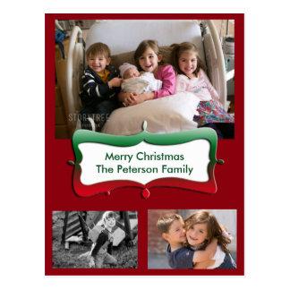Postal de las fotos de familia de las Felices