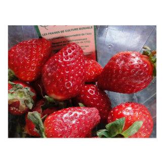 Postal de las fresas