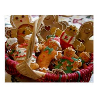 postal de las galletas del hombre de pan de