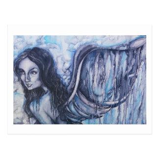 Postal de las ilustraciones del ángel de la