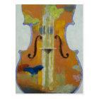 Postal de las mariposas del violín