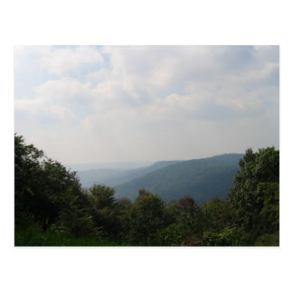 Postal de las montañas de Pennsylvania