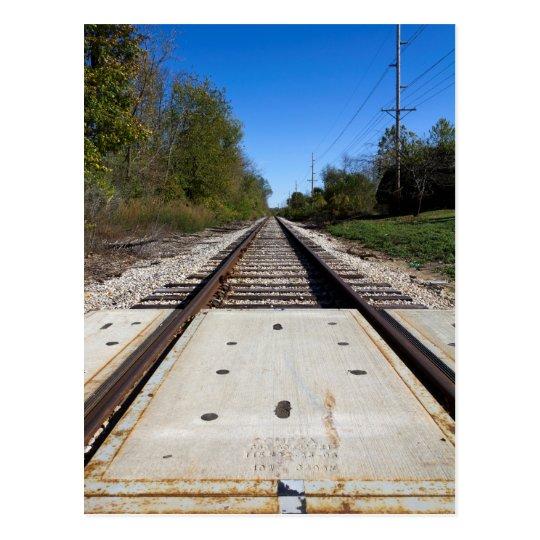 Postal de las pistas de ferrocarril