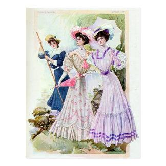 Postal de las señoras de Edwardian del vintage