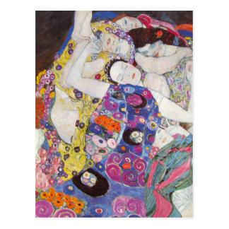 Postal de las vírgenes de Gustavo Klimt