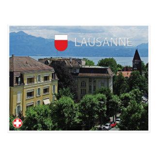 Postal de Lausanne - de Suiza