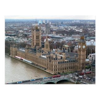 Postal de Londres del palacio de Westminster