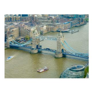 Postal de Londres Reino Unido del puente de la