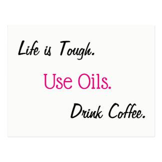 Postal de los aceites esenciales