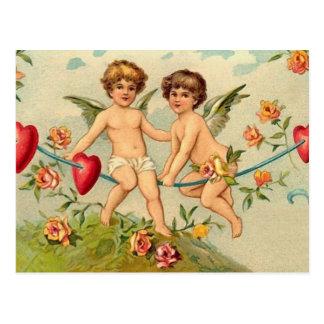 Postal de los ángeles de la tarjeta del día de San
