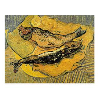 """Postal de los """"arenques ahumados"""" de Van Gogh"""
