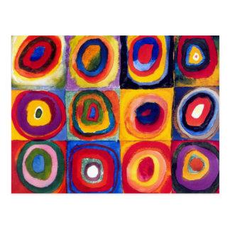 Postal de los círculos concéntricos de Kandinsky