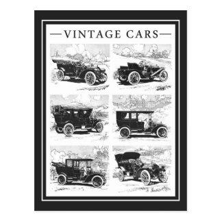 Postal de los coches del vintage