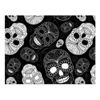 Postal de los cráneos del azúcar de Halloween
