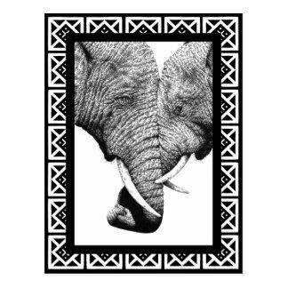Postal de los elefantes africanos