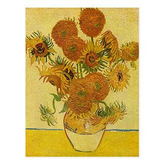 """Postal de los """"girasoles"""" de Vincent van Gogh"""