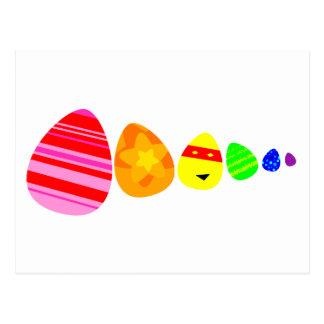 Postal de los huevos de Pascua del arco iris