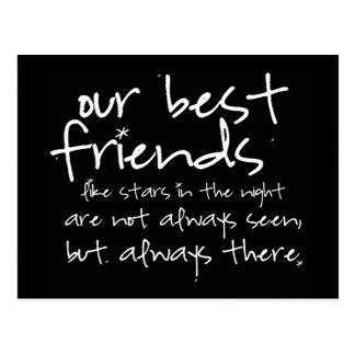 postal de los mejores amigos