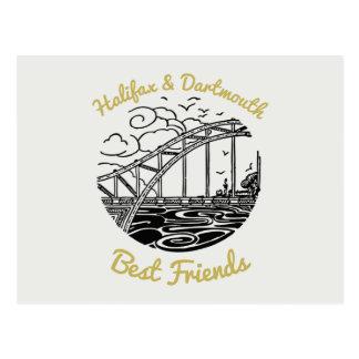 Postal de los mejores amigos de Halifax Dartmouth
