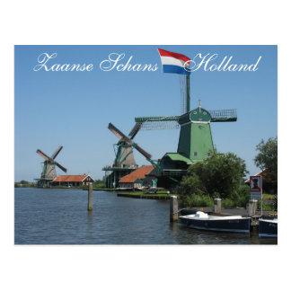 Postal de los molinoes de viento de Zaanse Schans