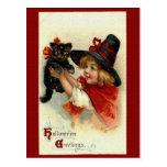 Postal de los saludos de Halloween del Victorian