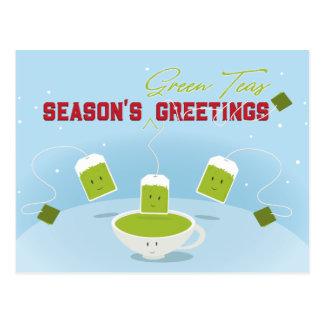 Postal de los tés verdes el | de la estación