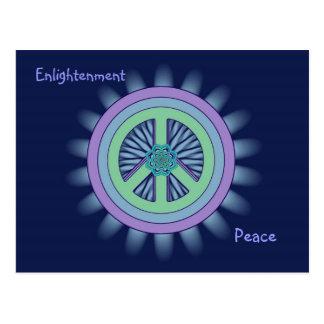 Postal de Lotus de la paz y de la aclaración