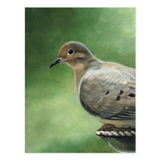Postal de luto del arte del pájaro de la paloma