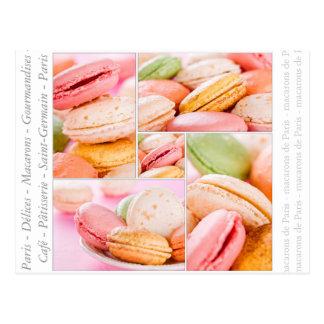 Postal de Macarons del francés