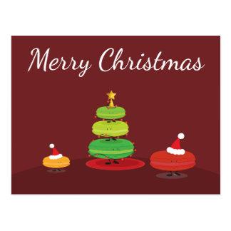 Postal de Macarons el | de las Felices Navidad