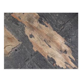 Postal de madera de gris ahumado