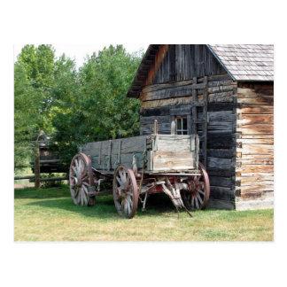 Postal de madera del carro