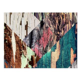 Postal de madera del collage de la textura