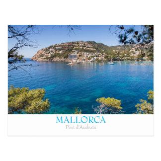 Postal de Mallorca - Andraitx del puerto con el