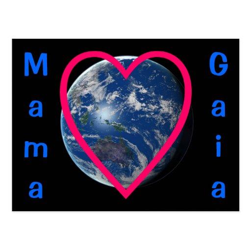 Postal de mamá Gaia