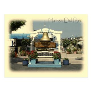 ¡Postal de Marina Del Rey del estilo del vintage