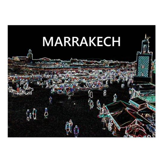 Postal de Marrakesh - de Marruecos
