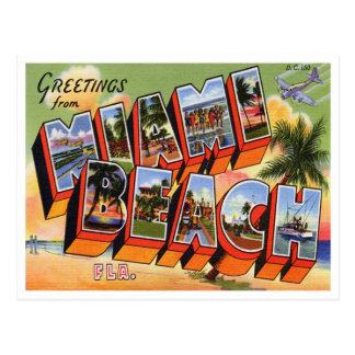 Postal de Miami Beach del vintage
