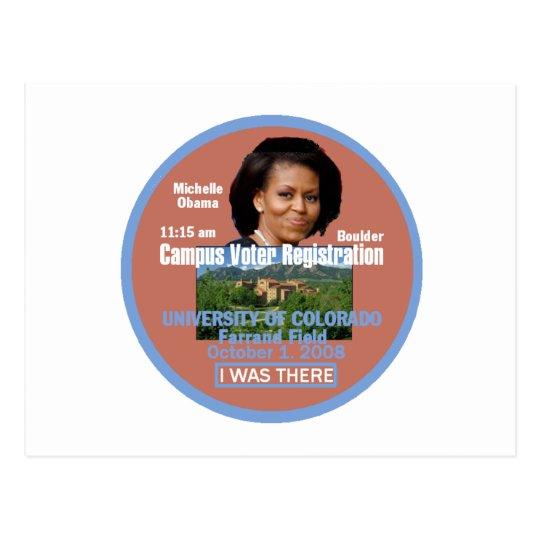 Postal de Michelle Obama Boulder