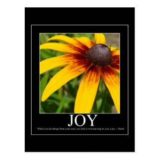 Postal de motivación de la flor de Rumi de la aleg