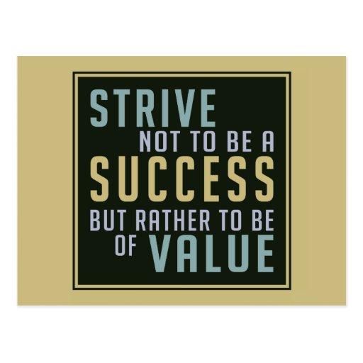 Postal de motivación del éxito y del valor
