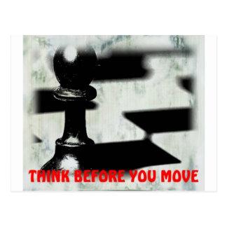 Postal de motivación del mundo del ajedrez