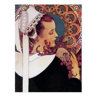 Postal de Mucha:   Alfonso Mucha - arte Nouveau